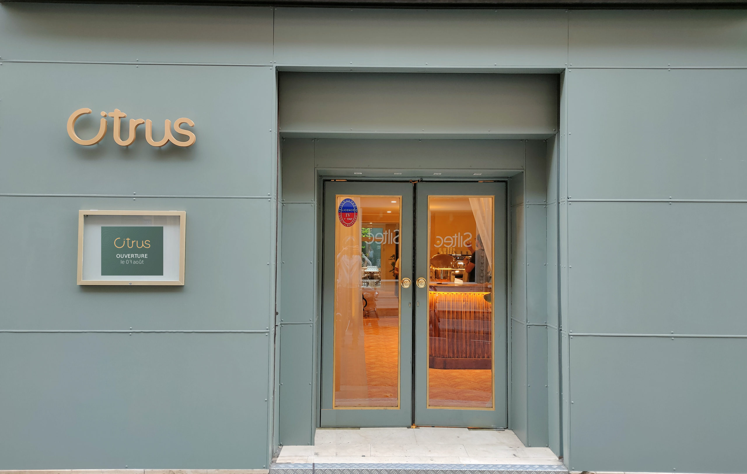 Entrée Citrus Paris Restaurant
